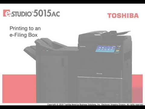Printing to e Filing Box
